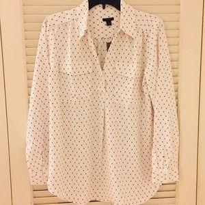 NWT Ann Taylor Button Down Blouse - Size: Large P